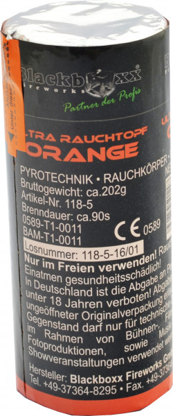 Blackboxx Ultra Rauchtopf Orange