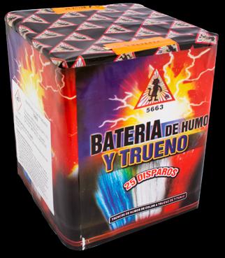EL GATO Bateria de Humo y Trueno 25-Schuss