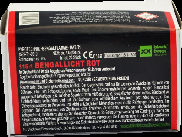 Blackboxx Bengallicht Rot