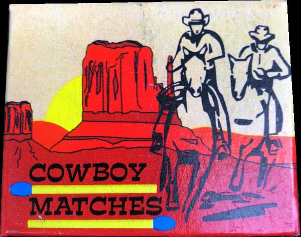 JGWB Überallstreichhölzer-Cowboy-Matches