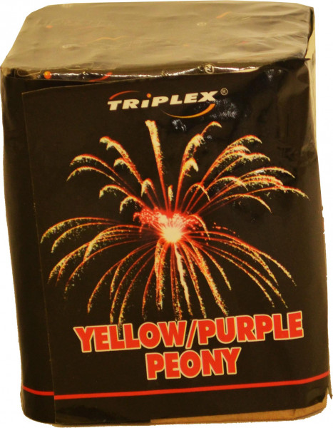 Triplex Yellow Purple Peony 9-Schuss