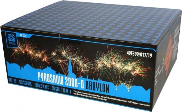 Argento Pyroshow 2000-D Babylon 120-Schuss