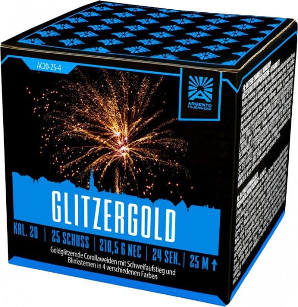 Argento Glitzergold 25-Schuss