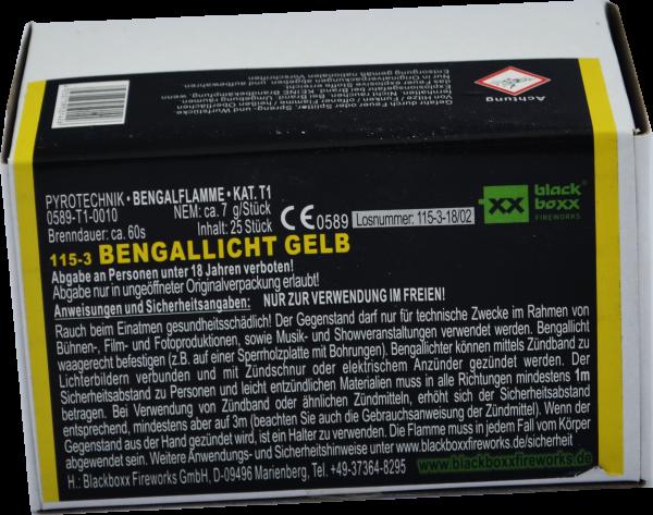 Blackboxx Bengallicht Gelb